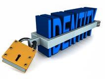 Proteção do roubo de identidade Imagens de Stock Royalty Free