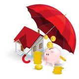 Proteção do seguro Fotografia de Stock Royalty Free
