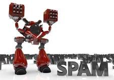 Proteção do vírus da inteligência artificial do robô Fotografia de Stock