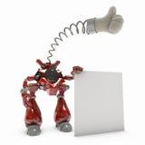 Proteção do vírus da inteligência artificial do robô Foto de Stock Royalty Free