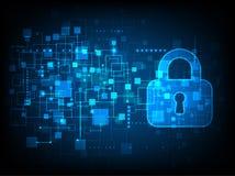 Proteção e segurança de Digitas Imagens de Stock Royalty Free