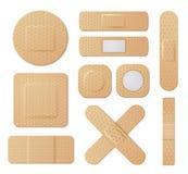 Proteção médica elástica dos emplastros ajustada no branco ilustração royalty free