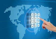Proteção no Internet Imagens de Stock Royalty Free