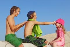 Proteção ou creme de Sun Foto de Stock