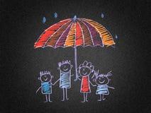 A proteção social da família Fotos de Stock Royalty Free