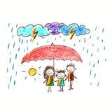 Proteção social Família feliz Imagens de Stock Royalty Free