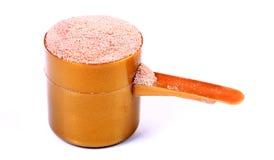 Proteína do soro fotografia de stock