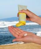Protecção solar Fotografia de Stock Royalty Free