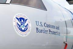 Protección americana de la frontera Imagen de archivo