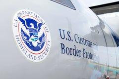 Protección americana de la frontera Imagenes de archivo