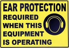 Protección auditiva Fotos de archivo libres de regalías