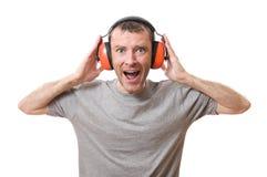 Protección auditiva Foto de archivo libre de regalías
