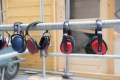Protección auditiva para el ruido foto de archivo libre de regalías