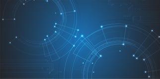Protección cibernética de la seguridad y de la información o de la red Futuro técnico Imagen de archivo libre de regalías