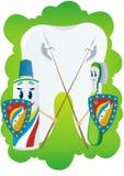Protección contra carie dental Imagen de archivo libre de regalías