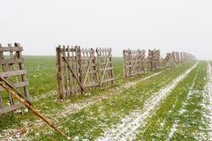 Protección contra desviaciones de la nieve Fotos de archivo libres de regalías
