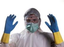 Protección contra el virus de Ebola imagenes de archivo