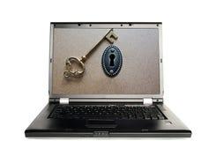 Protección de contraseña del ordenador Foto de archivo libre de regalías