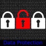 Protección de datos Fotos de archivo libres de regalías