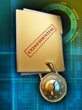 Protección de la carpeta Imágenes de archivo libres de regalías