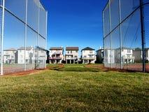 Protección de la cerca del béisbol Fotografía de archivo libre de regalías