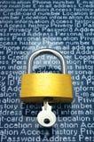 Protección de la información personal Foto de archivo
