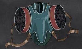 Protección de la máscara contra la contaminación Imagen de archivo