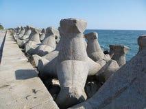 Protección de la playa Imágenes de archivo libres de regalías