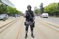 Protección de la policía el TTC. Imágenes de archivo libres de regalías