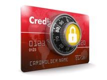 Protección de la tarjeta de crédito (trayectoria de recortes incluida) Foto de archivo libre de regalías
