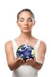 Protección de la tierra del planeta Imagen de archivo libre de regalías