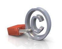 Protección de los derechos reservados Imagen de archivo libre de regalías