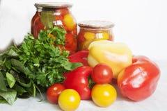 Protección de los tomates Fotos de archivo libres de regalías