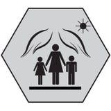 Protección de madres con los niños 1 fotografía de archivo
