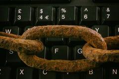 Protección de su tecnología y datos Fotografía de archivo libre de regalías
