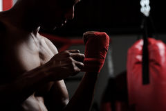 Protección del boxeador imagen de archivo