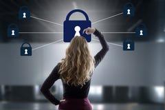 Protección del concepto de la seguridad foto de archivo libre de regalías