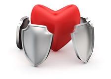 Protección del corazón Fotografía de archivo