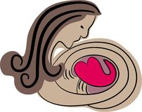 Protección del corazón stock de ilustración