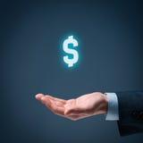 Protección del dólar Imagen de archivo libre de regalías