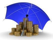 Protección del dinero. Foto de archivo libre de regalías