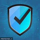 Protección del escudo - Internet seguro Imagen de archivo
