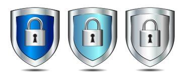 Protección del inicio de sesión de Internet de la cerradura del escudo ilustración del vector