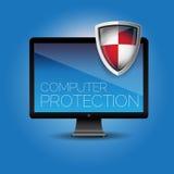 Protección del ordenador stock de ilustración