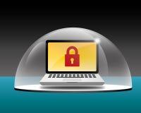 Protección del ordenador foto de archivo libre de regalías