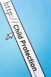 Protección en línea del niño Imagen de archivo libre de regalías