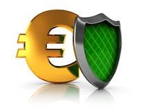 Protección euro Fotos de archivo