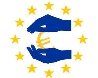 Protección para el euro Imagen de archivo libre de regalías