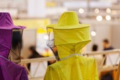 Protección para los apicultores Fotos de archivo libres de regalías