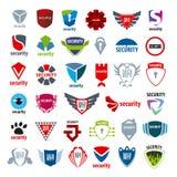 Protección y aplicación de los logotipos de la colección ilustración del vector